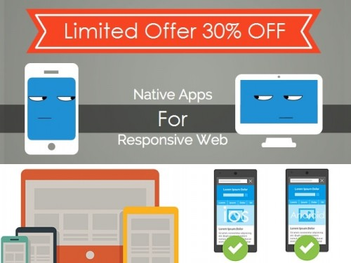 responsive website in native app-min